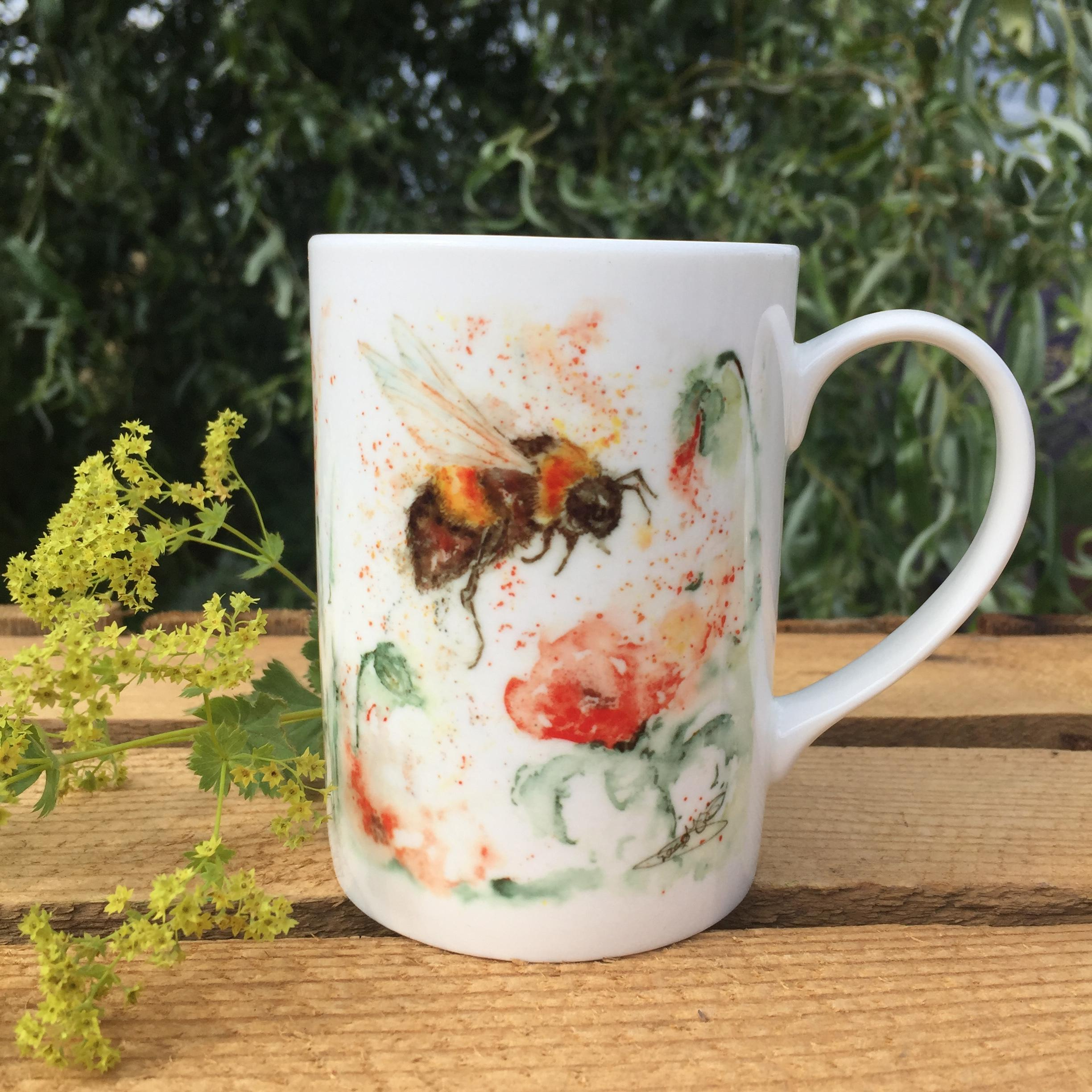 bumblebee bone china mug
