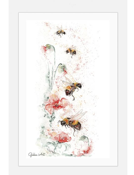 poppybee tea towel