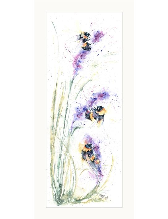 Bees and flowers painting