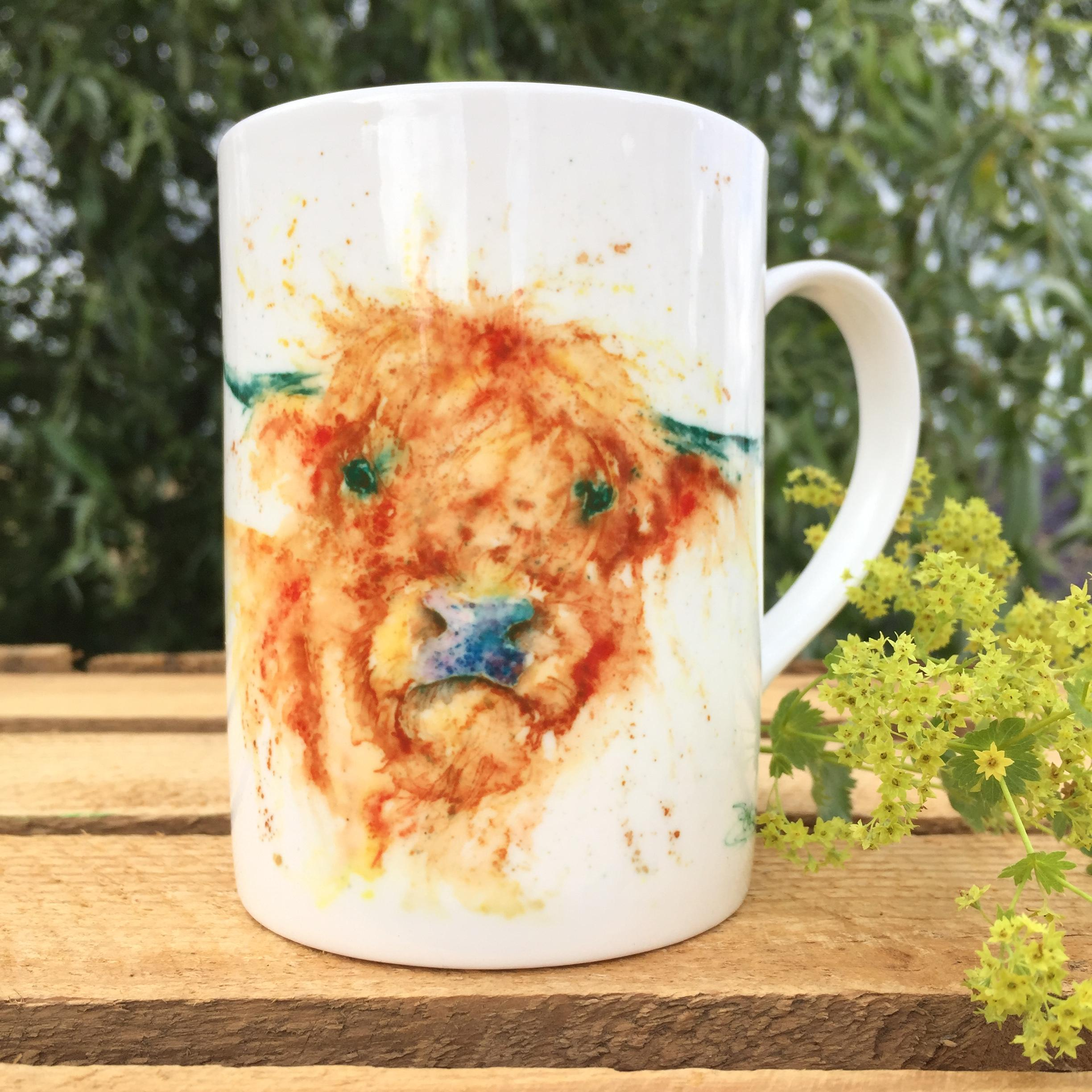 10oz highland cow mug