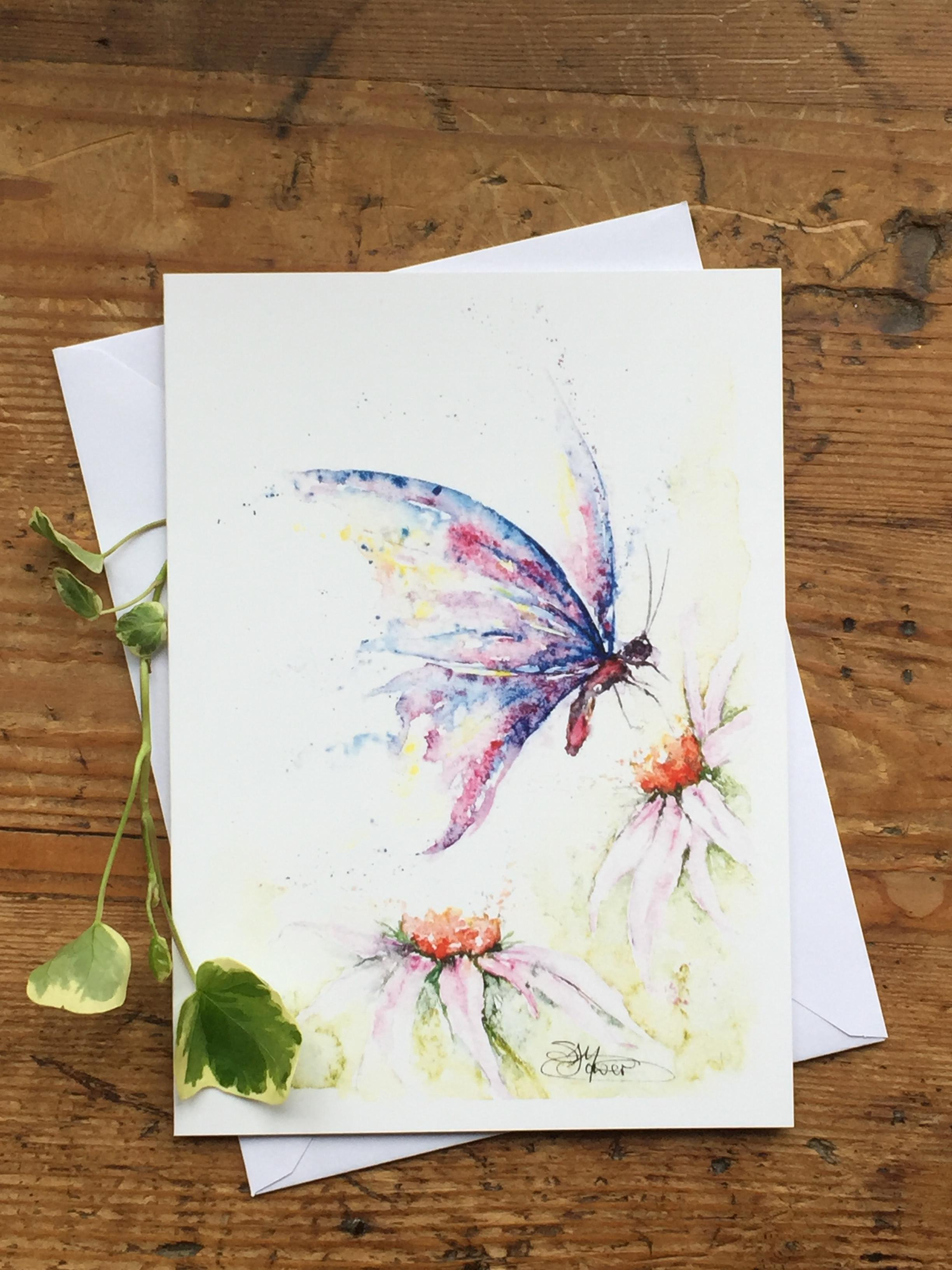 butterfly art card