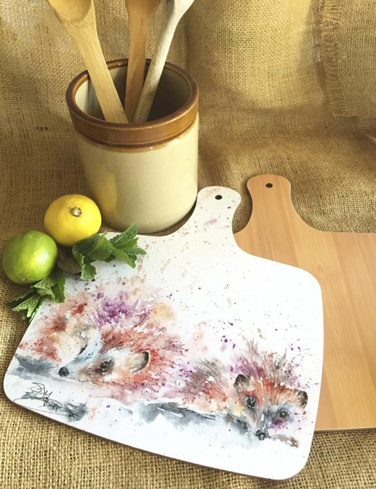 hedgehog chopping board