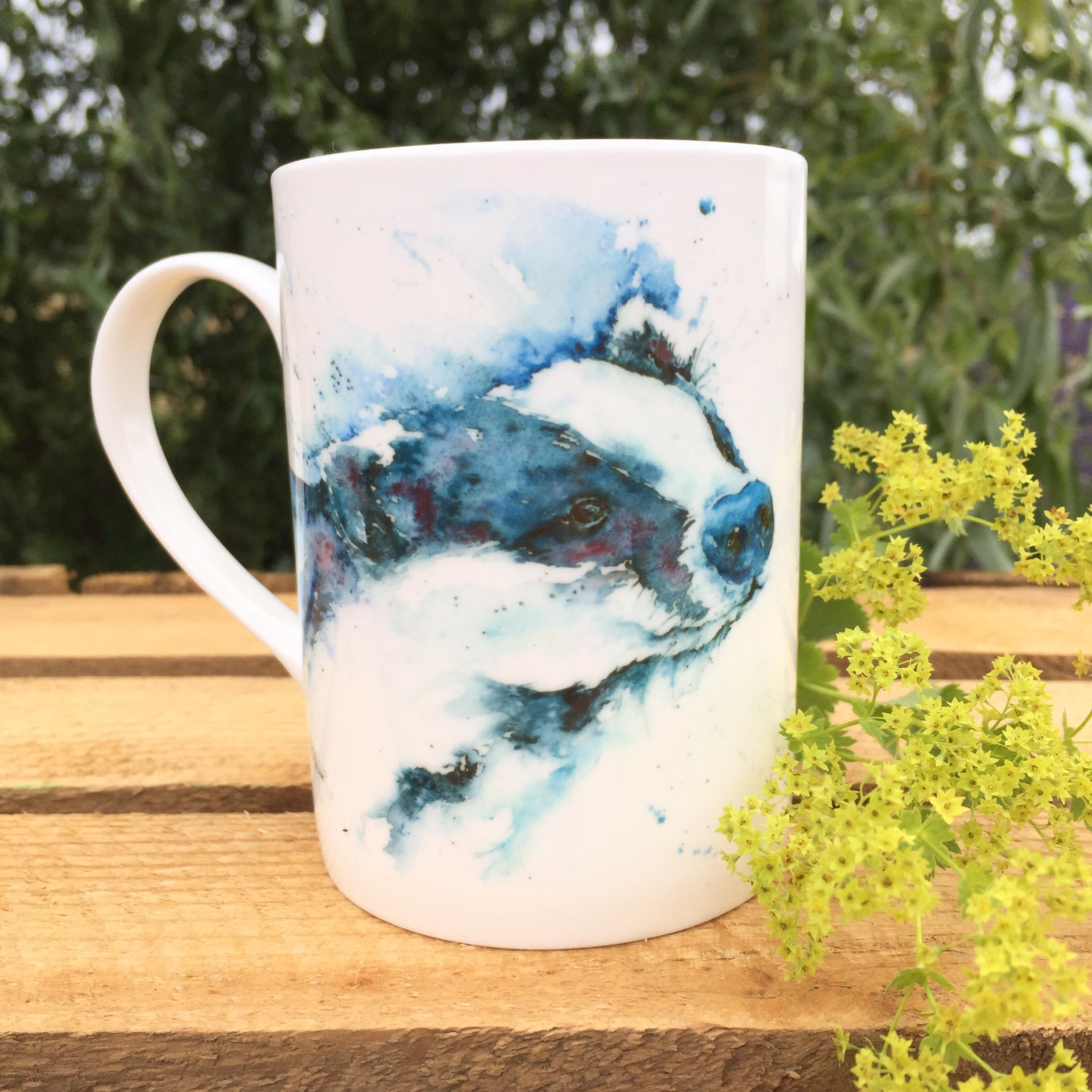 10oz badger mug