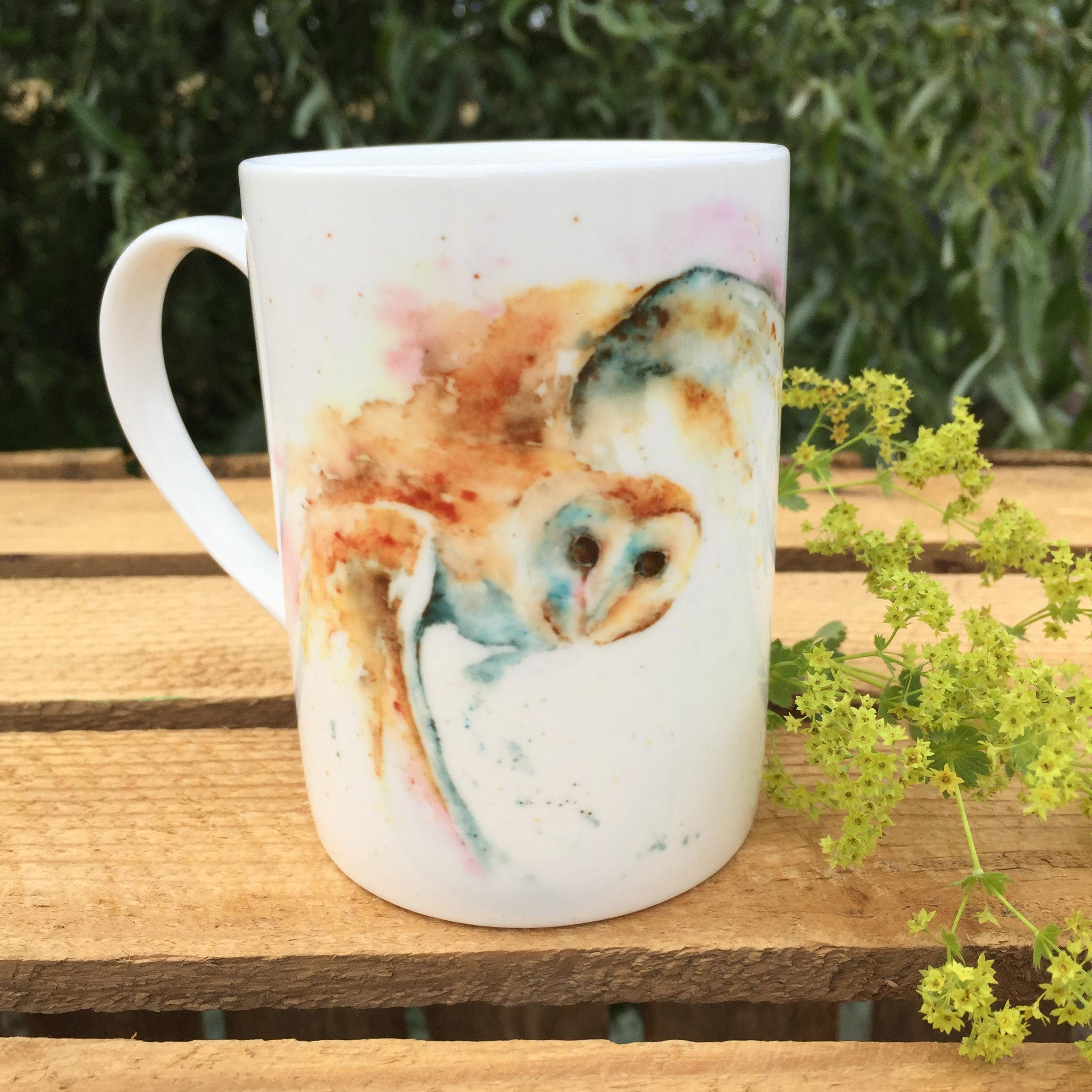 10oz barn owl mug
