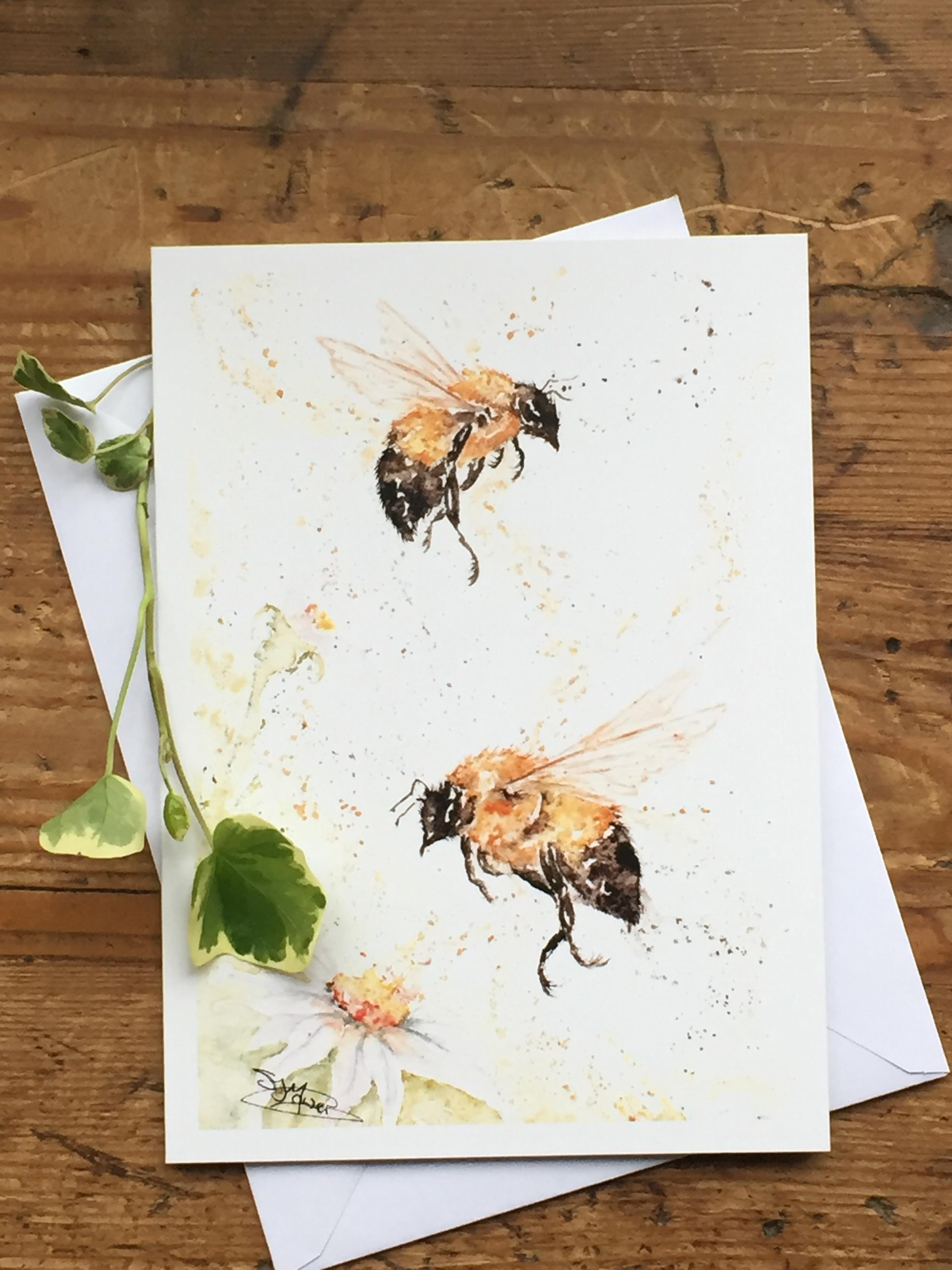 bee card design