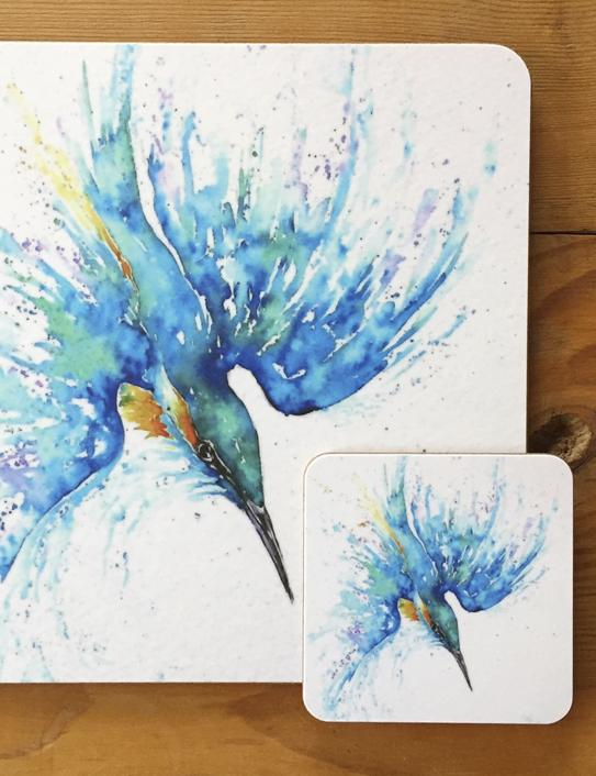 kingfisher tablemat detail