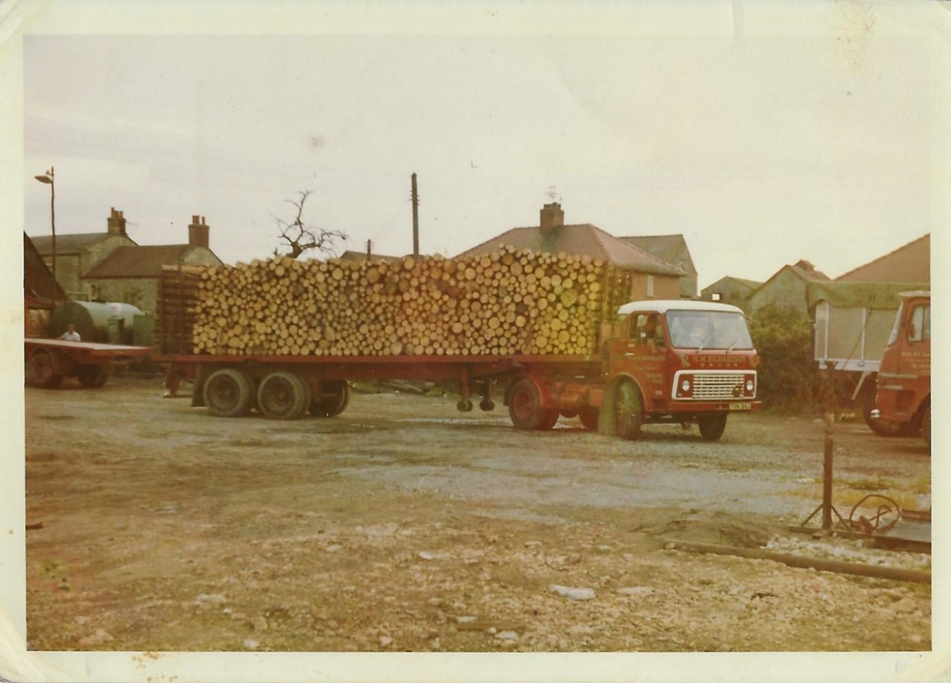 An early Volvo F86 and possibly an 8 Wheeler just visible at the right