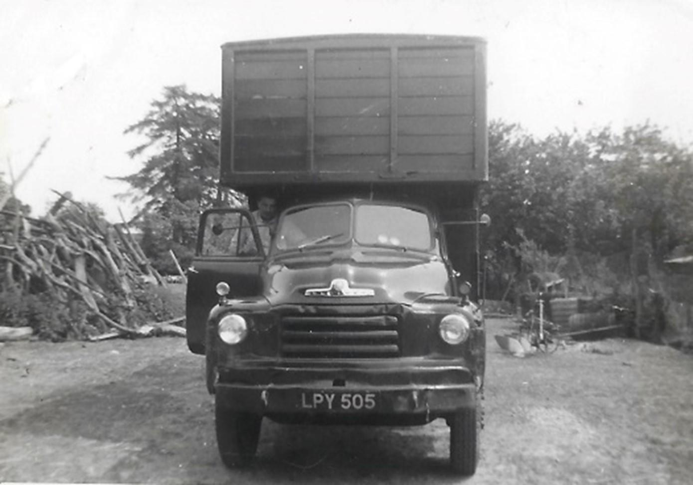 Henry's first truck, fitted with the box type body