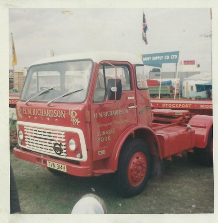 the first addition to the HM Richardson Volvo fleet, a 1970 F86 Tractor Unit