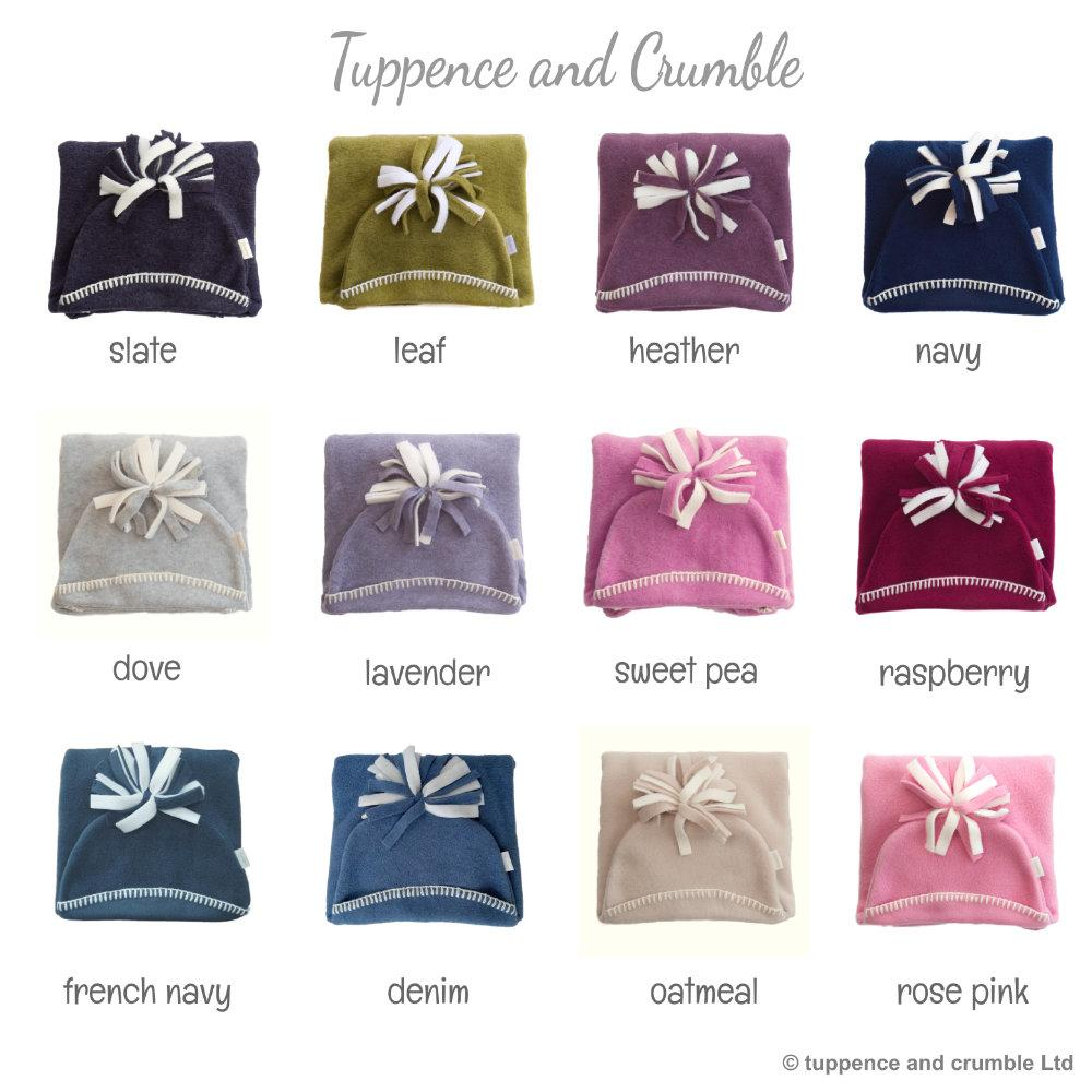 Tuppence and Crumble Starsnug Star Baby Wrap Naturals full colour range.