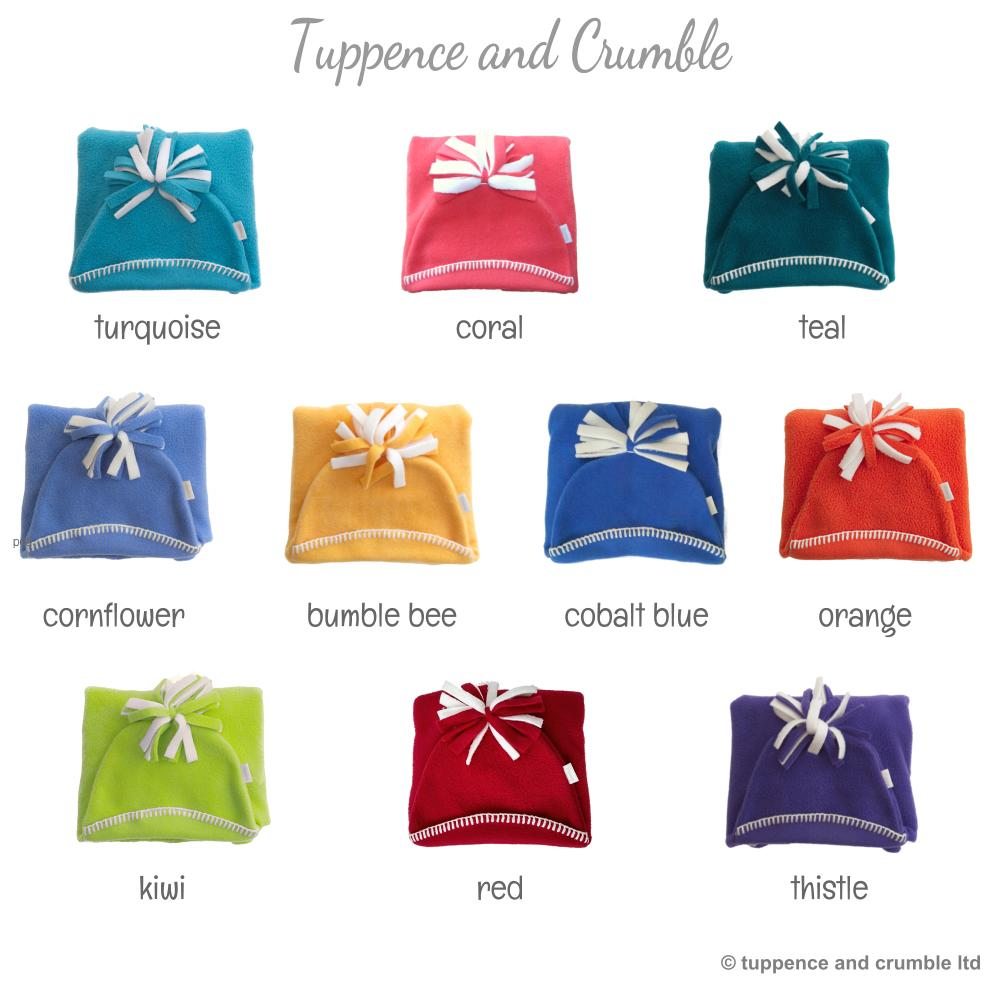 Tuppence and Crumble Starsnug Star Baby Wrap 'Brights' colour range
