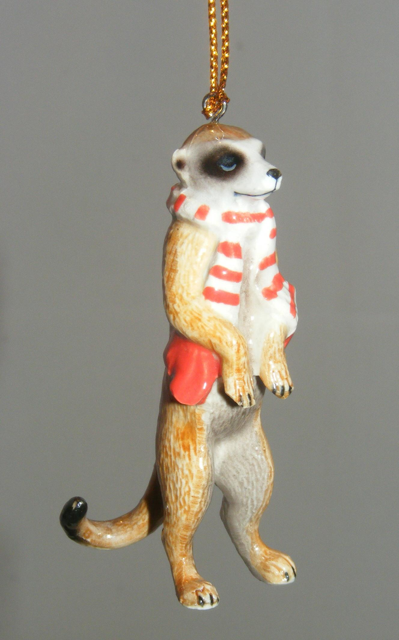 Northern Rose Porcelain Christmas Tree Decoration Meerkat ...