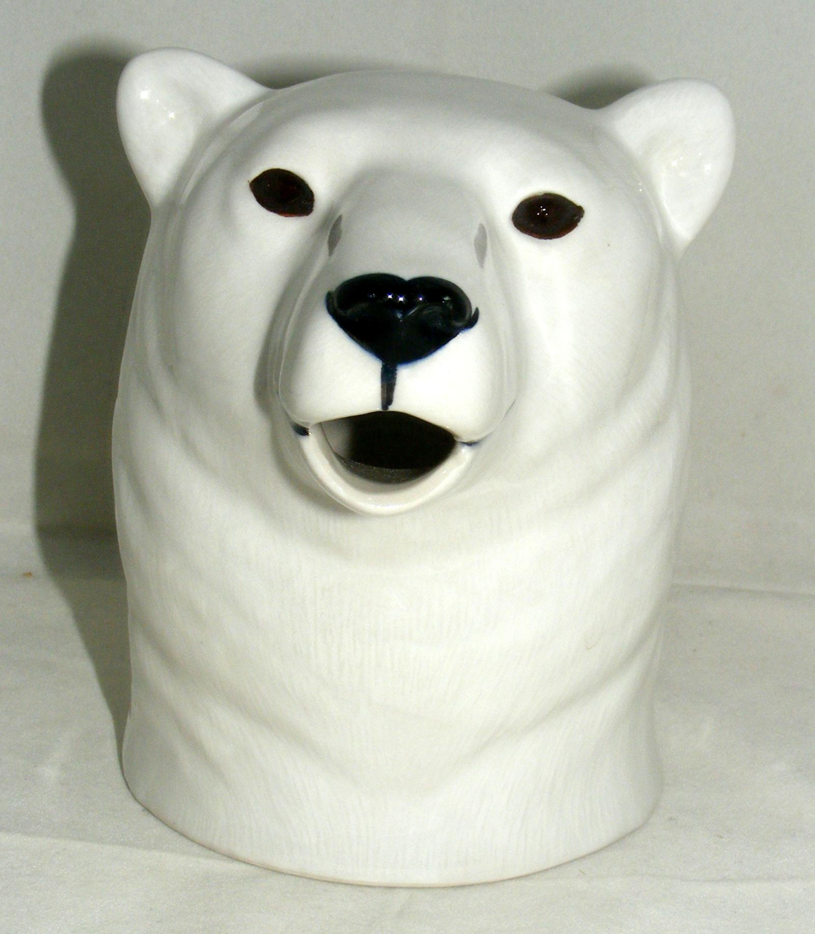 Large Black Bear Jug Quail Ceramics