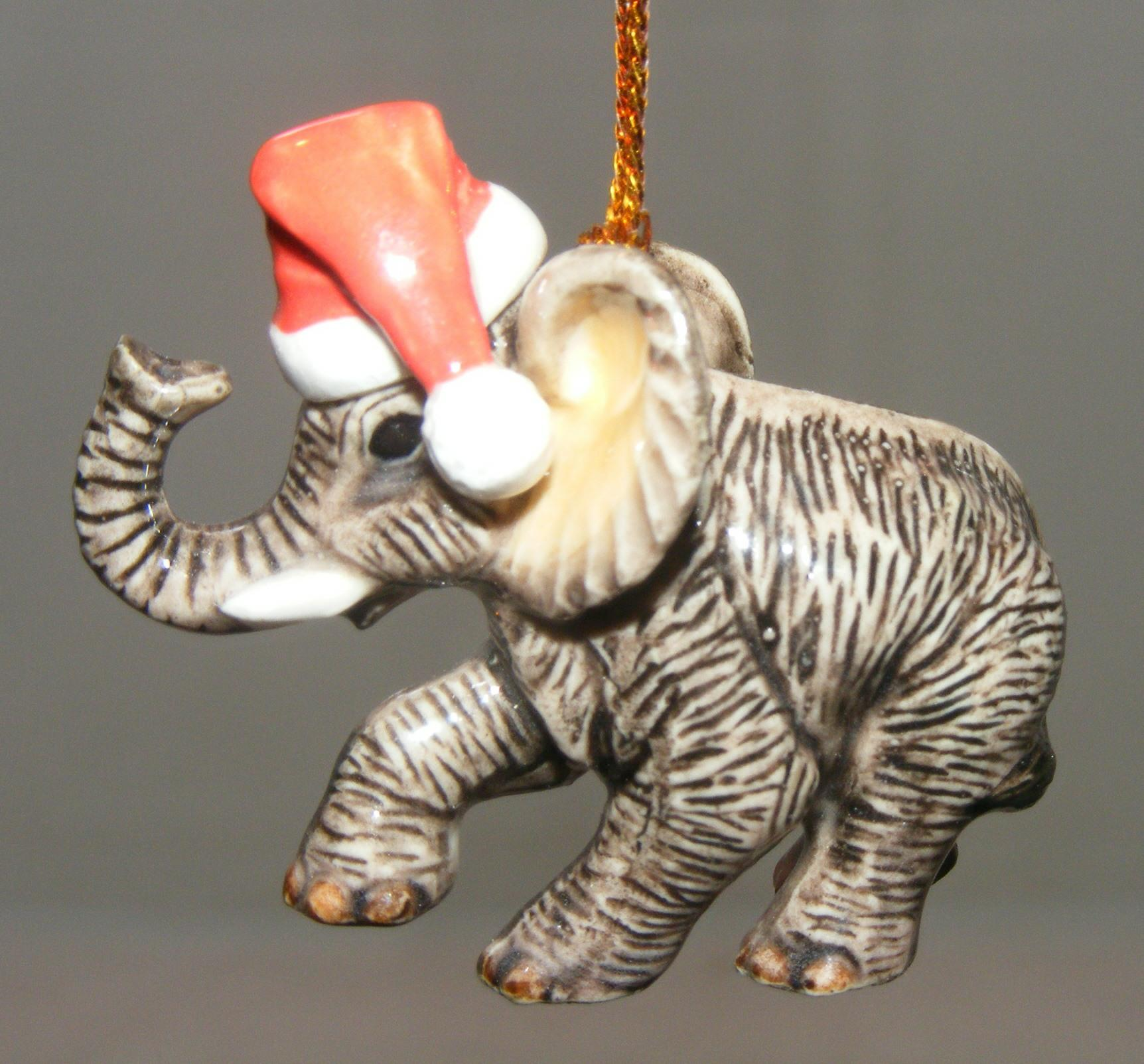 Northern rose porcelain christmas tree decoration elephant for Decoration elephant