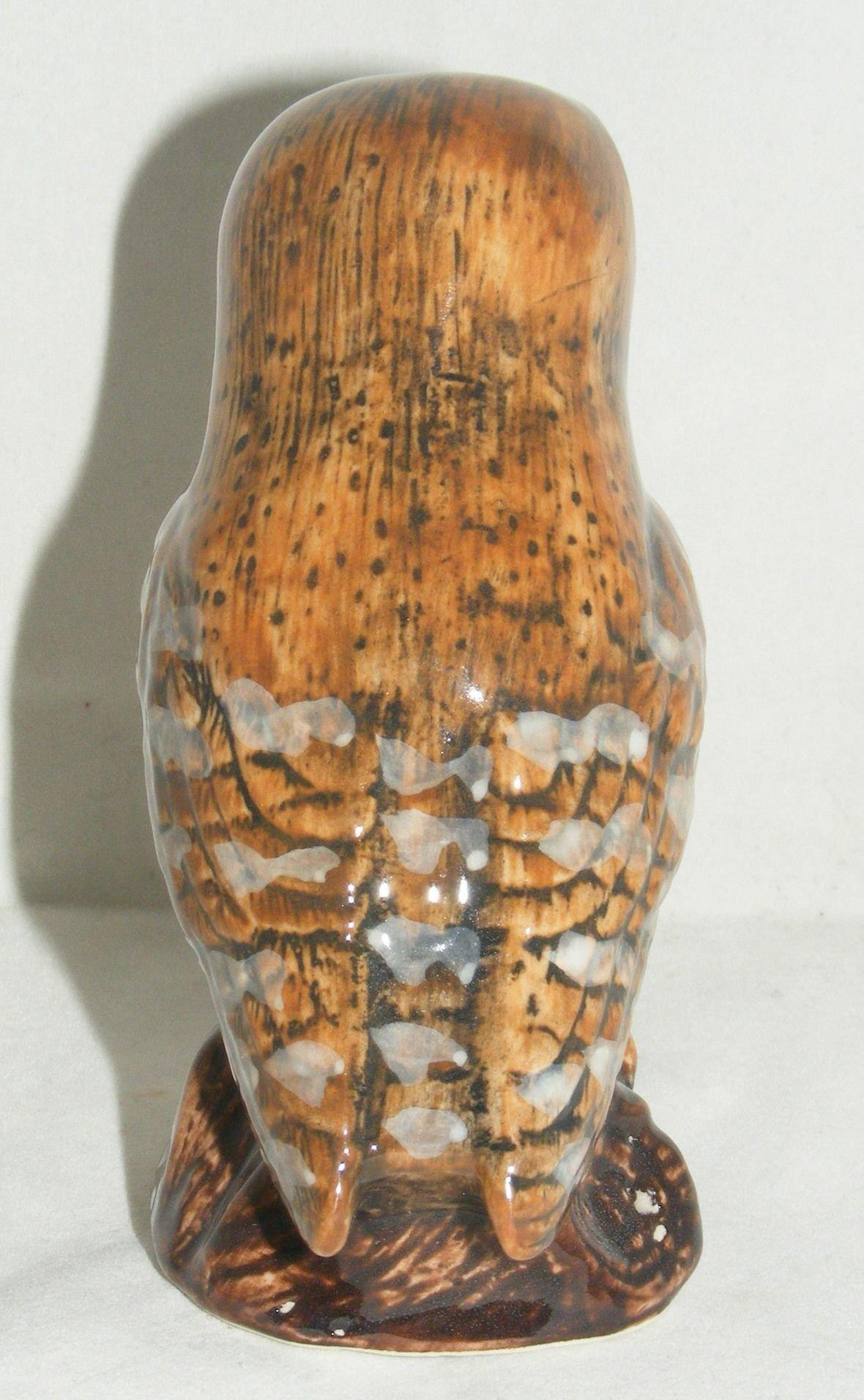 "Quail Ceramics Bird Figure Barn Owl 4"" 844"