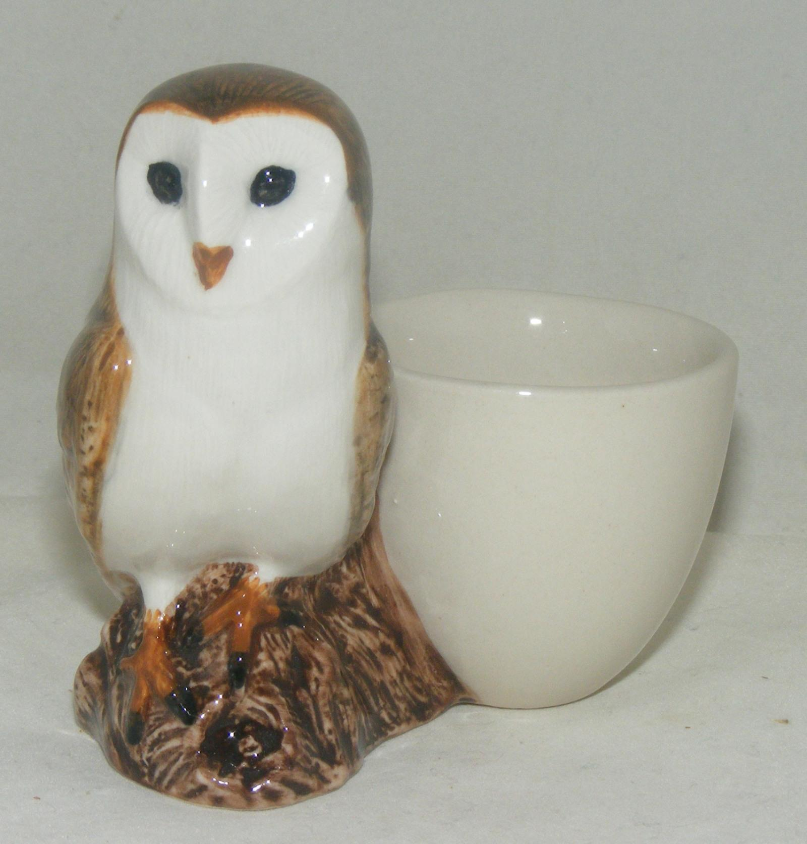 Quail Ceramics Barn Owl with Egg Cup 847
