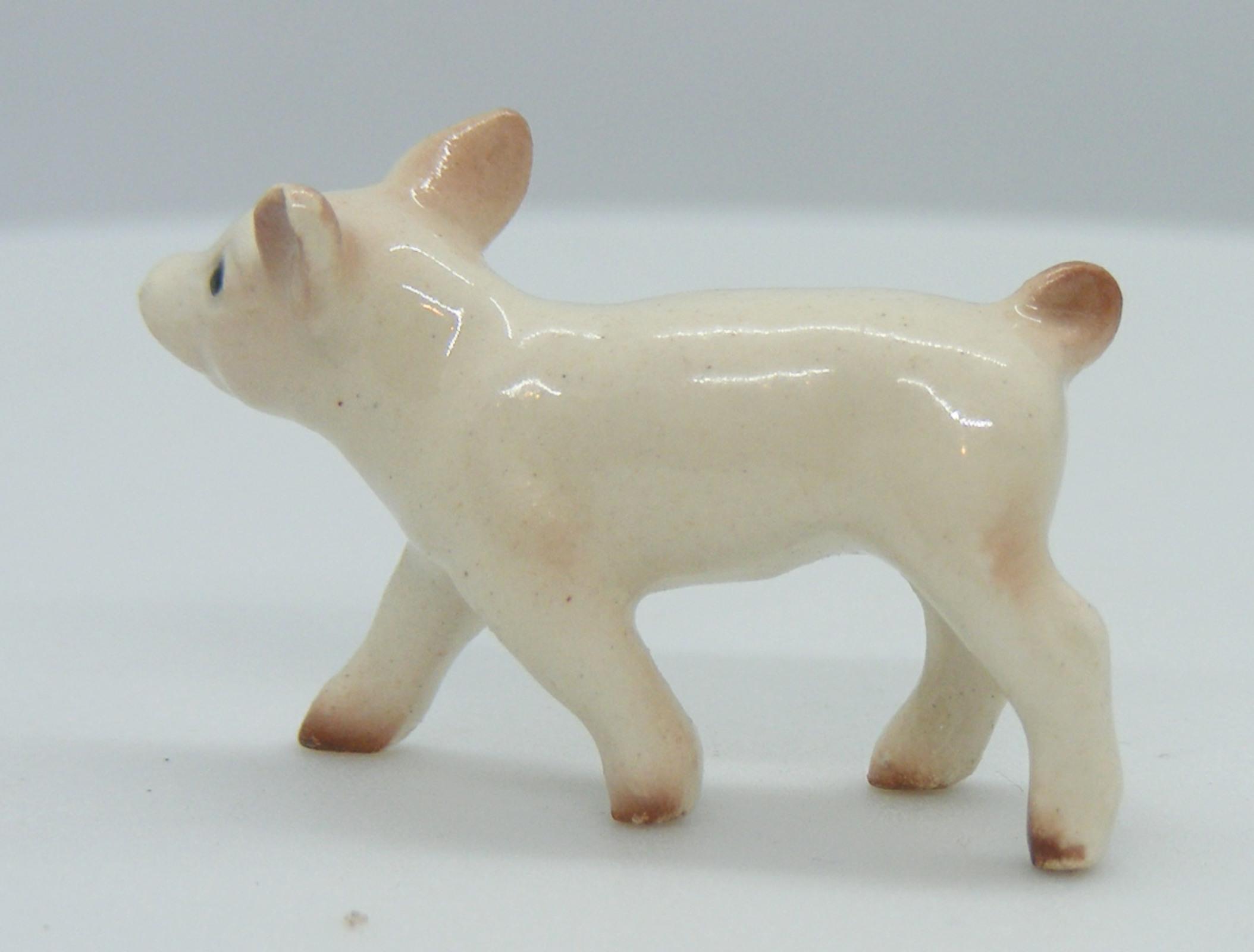 Hagen Renaker Standing Baby Pig Spotted