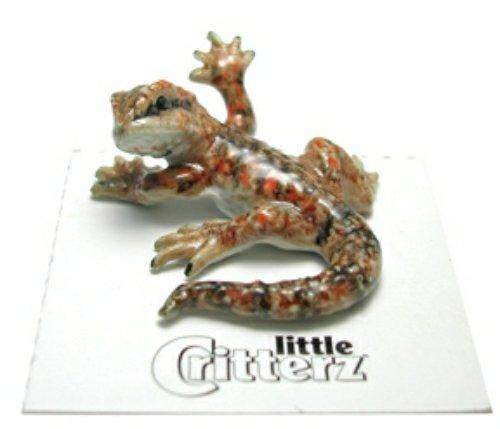 "Little Critterz Miniature Porcelain Animal Leopard Gecko /""Gladiator/"" LC303"