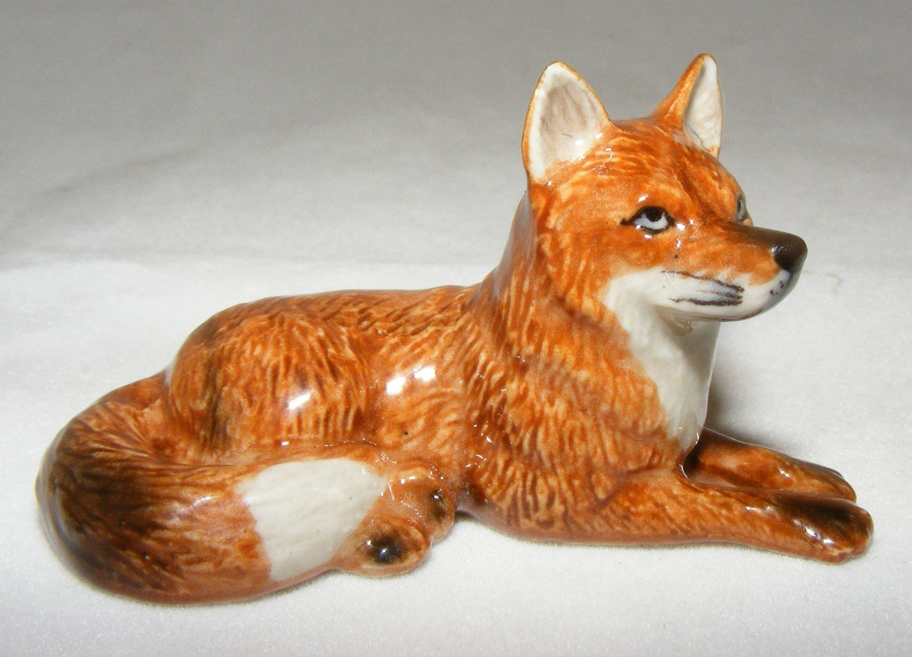 NEW Northern Rose RED FOX Figurine PORCELAIN Statue WILD ANIMAL Figure