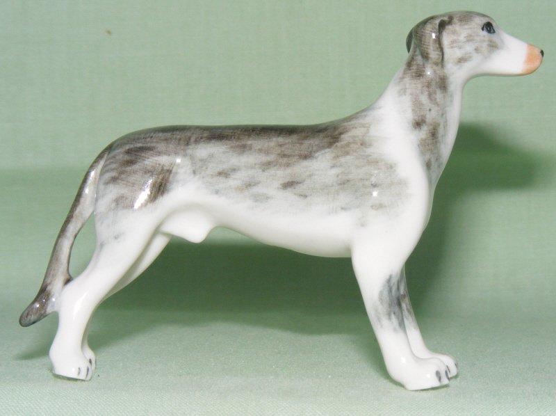 Klima Miniature Porcelain Animal Figure Greyhound Crouching Brown /& White K846