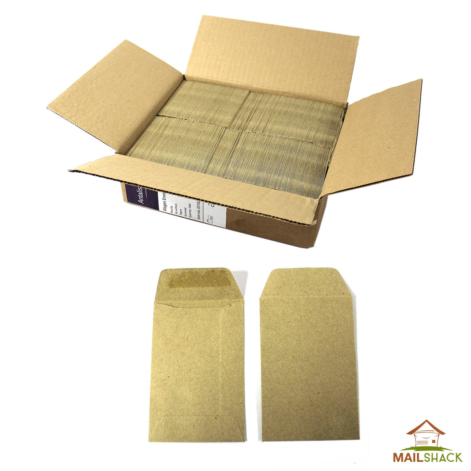 Bulk Small Brown Envelopes 98 X 67mm For Dinner Money Wages Coin Beads Seeds