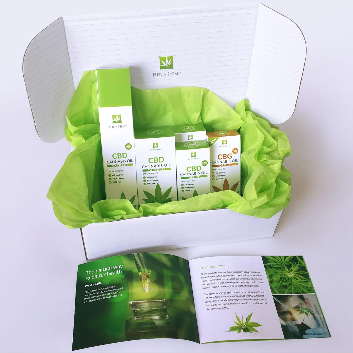 Herts Hemp | CBD Oil | Delivery Parcel