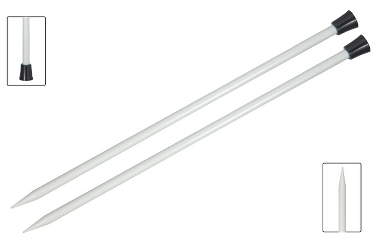 Basix Aluminium Single<P>Point Needles - 40cm