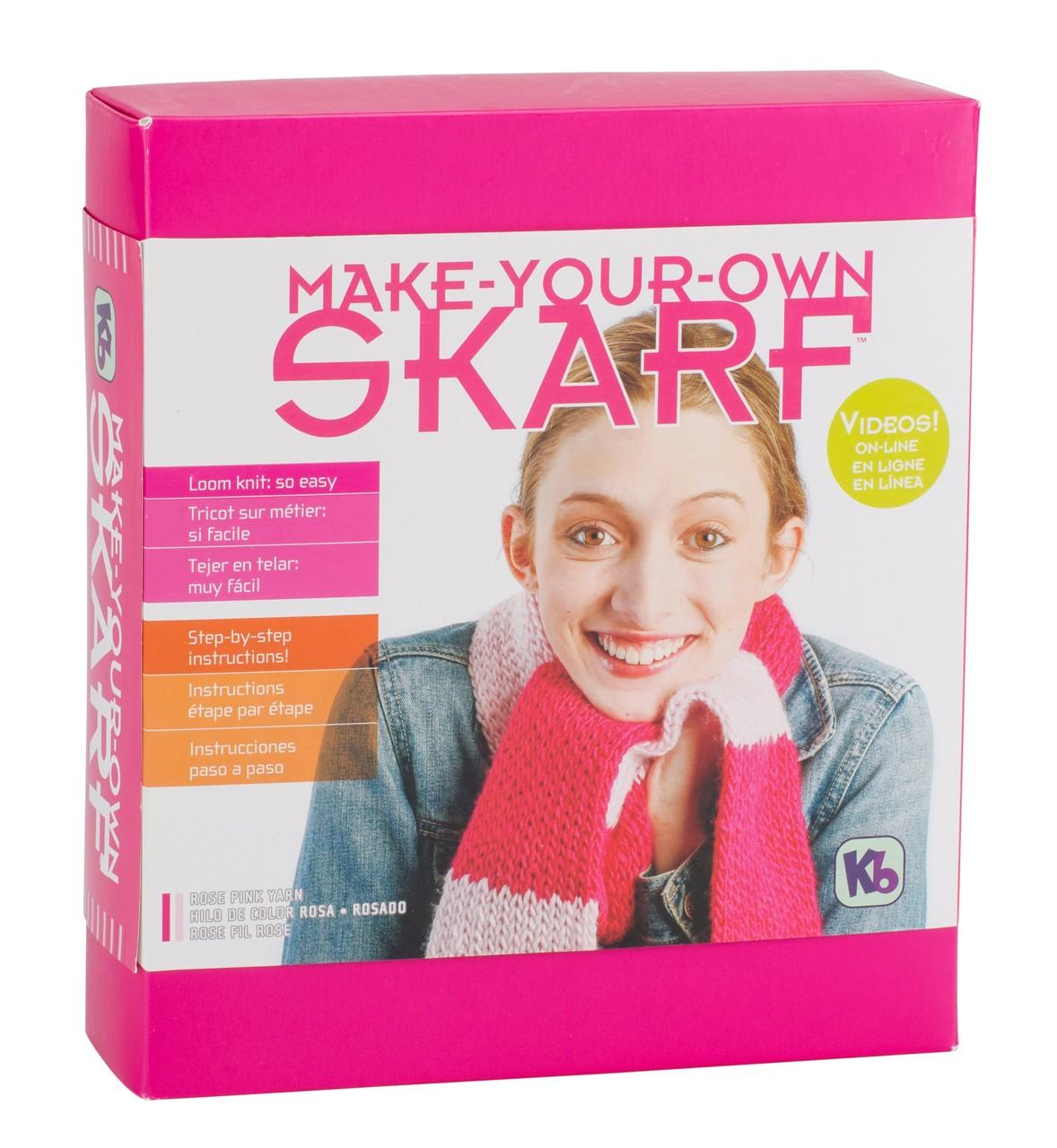 Knit Your Own Scarf Kit<P>Rose