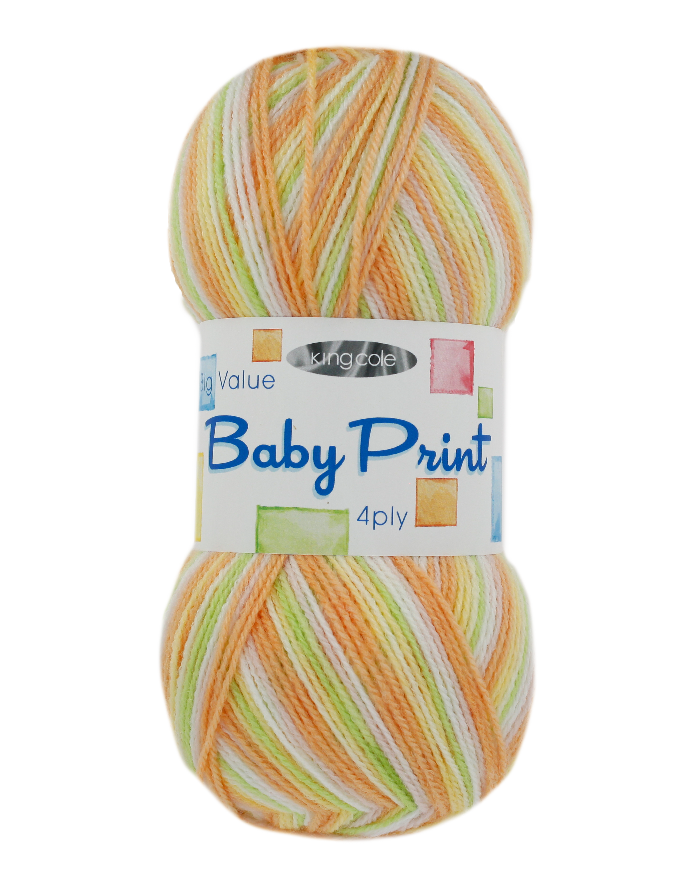 King Cole<P>Big Value Baby 4 Ply Print