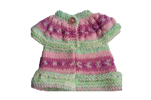 Baby Cardigan Knitted <P> in Alice 1726
