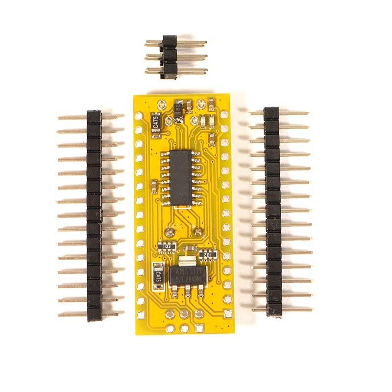 Arduino Nano V3 base view with headers supplied Micro USB connection