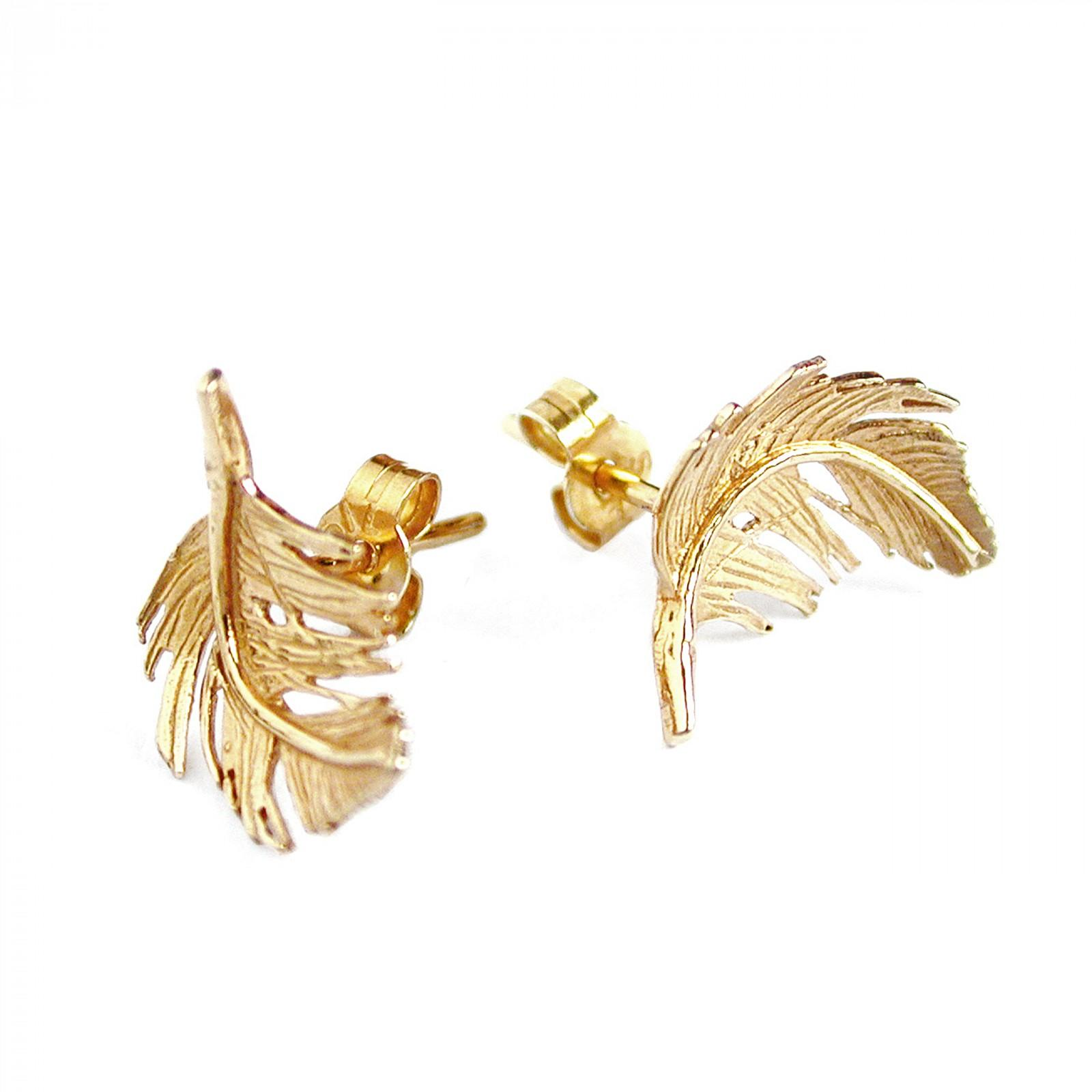 Silver & gold plated little feather earrings £108 (available in store only)