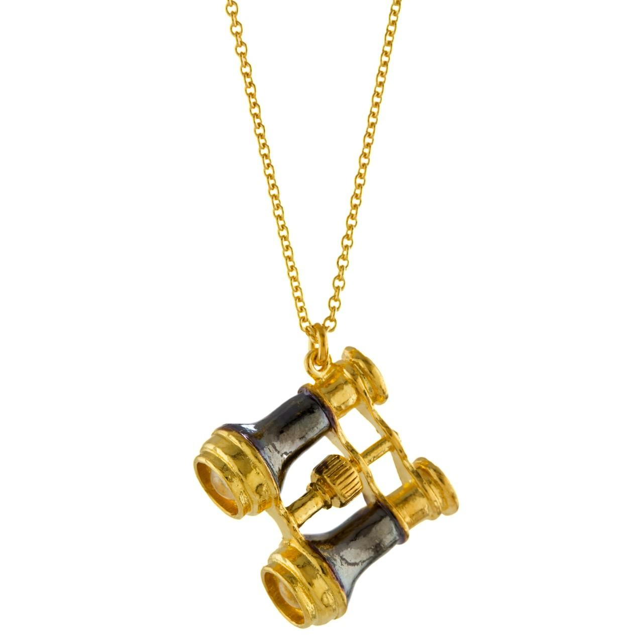 Solid silver & gold plated binoculars necklace £240 (available in store only)