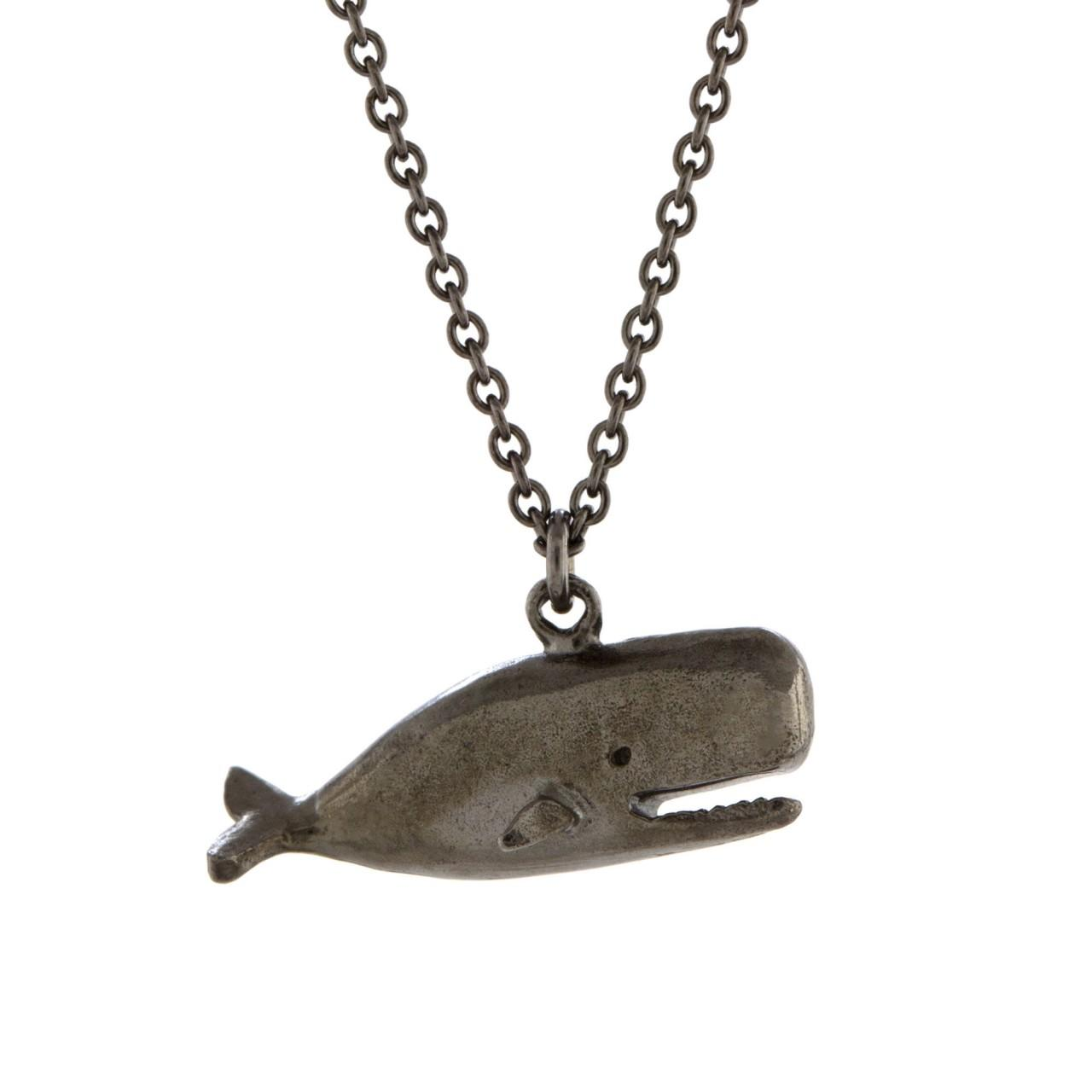 Black rhodium plated Moby Dick necklace £132 (available in store only)