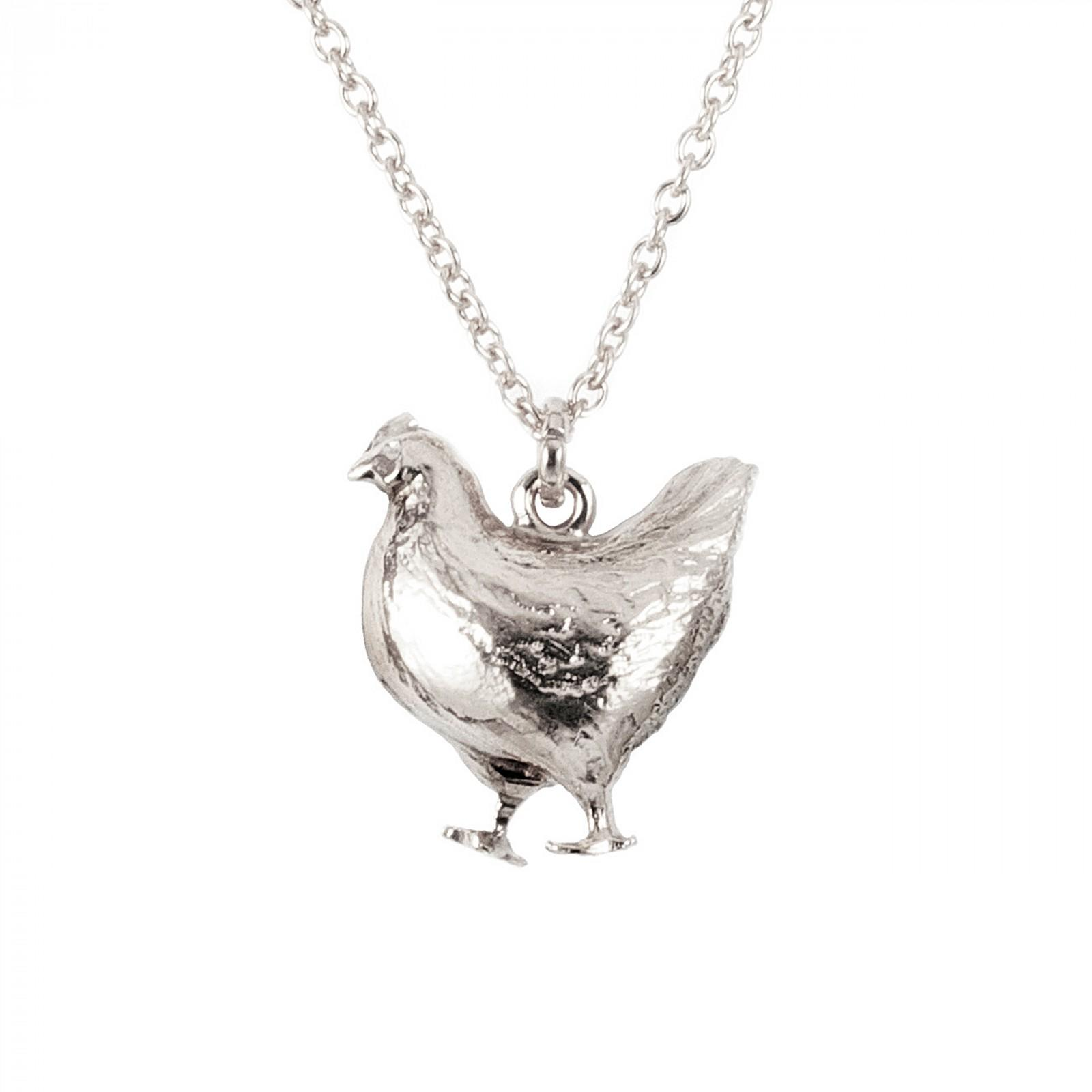Sterling silver fat hen necklace £132 silver bumblebee necklace Large £150, Small £132 (available in store only)
