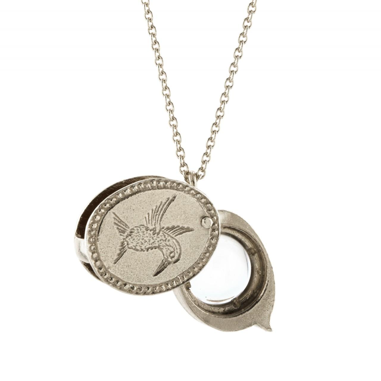Solid silver field loupe necklace £195 (available in store only)