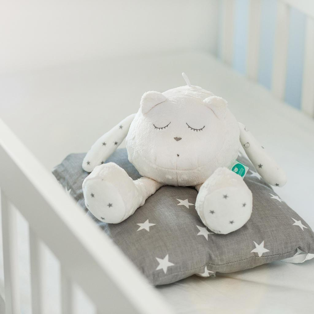 White noise teddy bear - myHummy Snoozy White Ecru