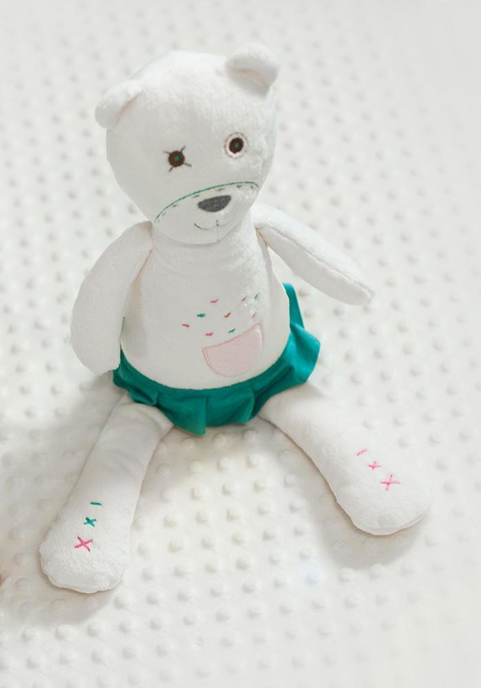 White Noise Teddy Bears - myHummy Pearl, Ash, Fleur and Filbert