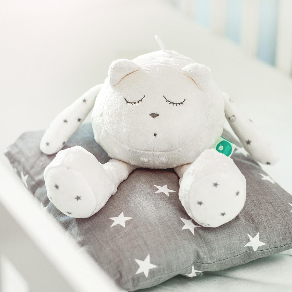 White noise soft toy - myHummy Snoozy in Ecru White