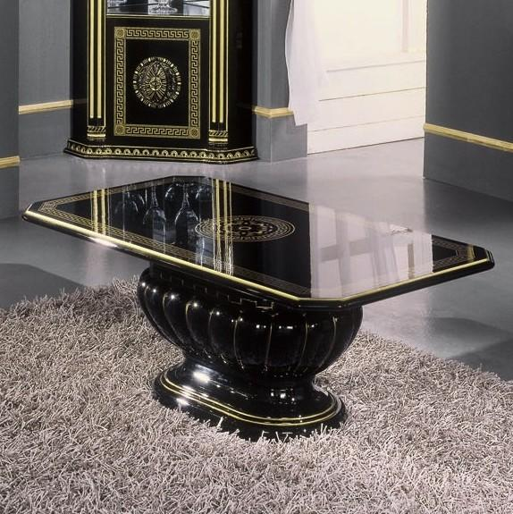 Coronation Rosa Coffee Table Black & Gold Versace Style