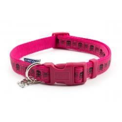 Ancol Collar Skull Pink Medium 30-50cm