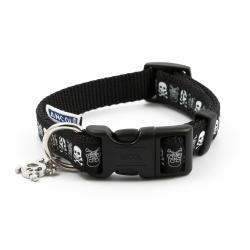 Ancol Collar Skull Black Small 20-30cm