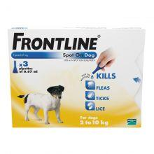 FRONTLINE Spot On Dog Small - 3 pipettes 3s
