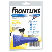 FRONTLINE Spot On Dog Small - 1 pipette 1s