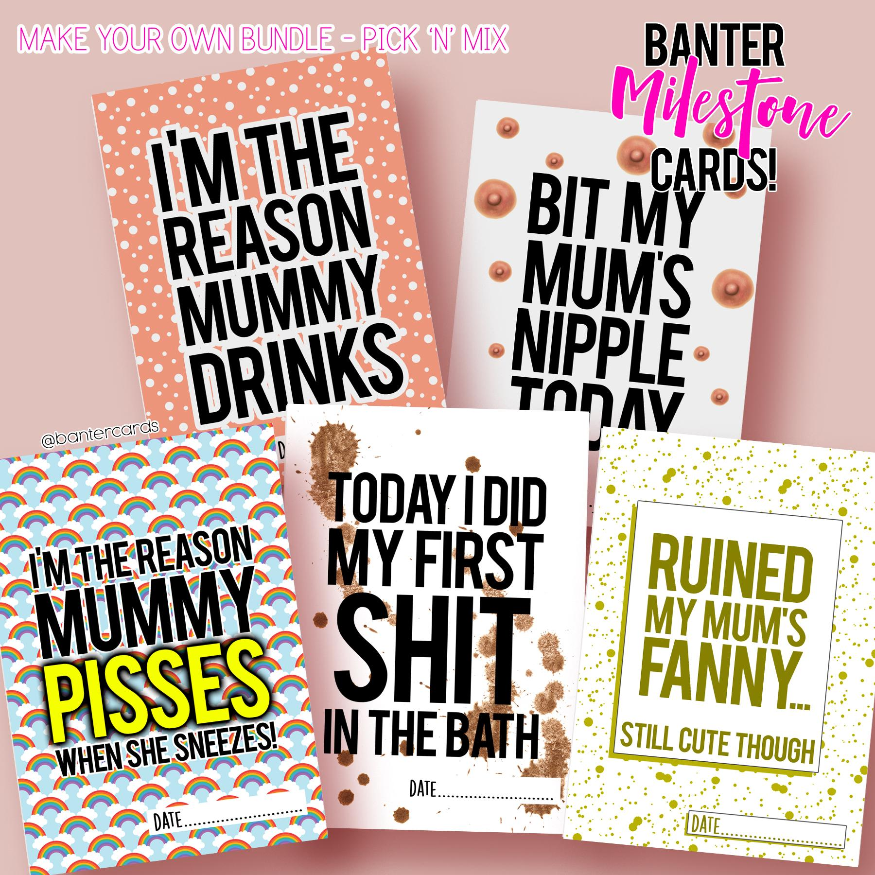 Banter Milestone Cards