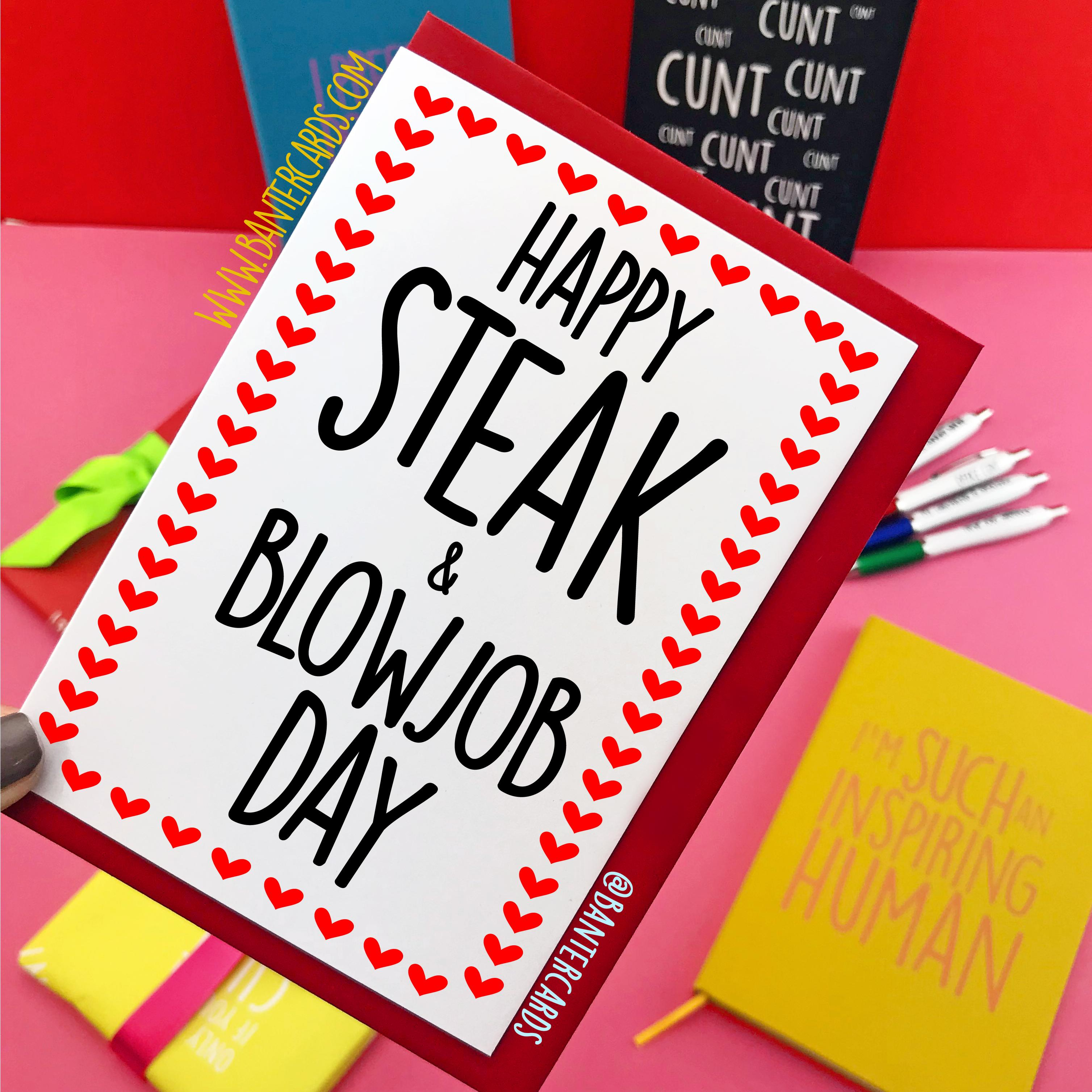 Steak & BJ Day Cards