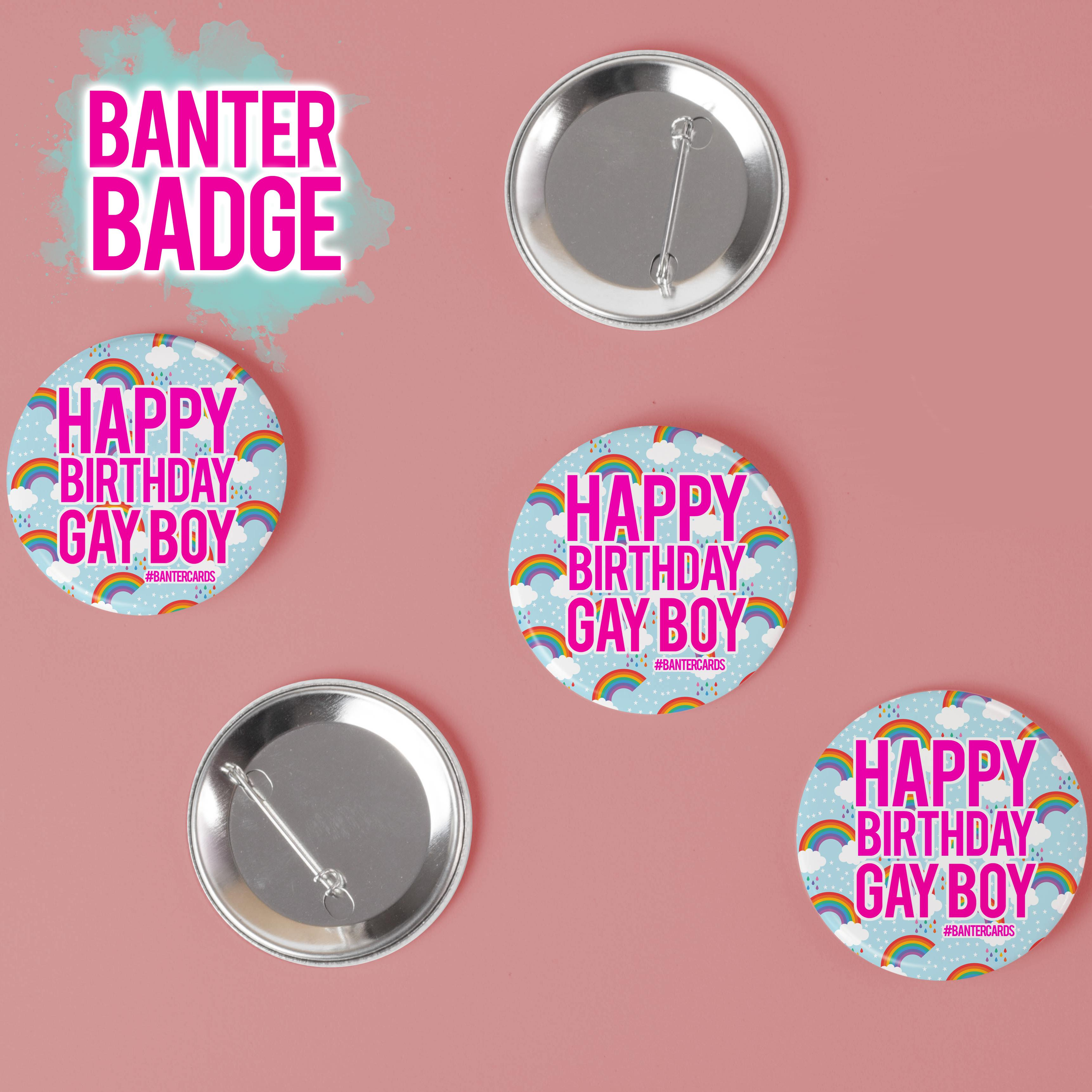 HAPPY BIRTHDAY BADGE with Stickers Included to Personalise it.