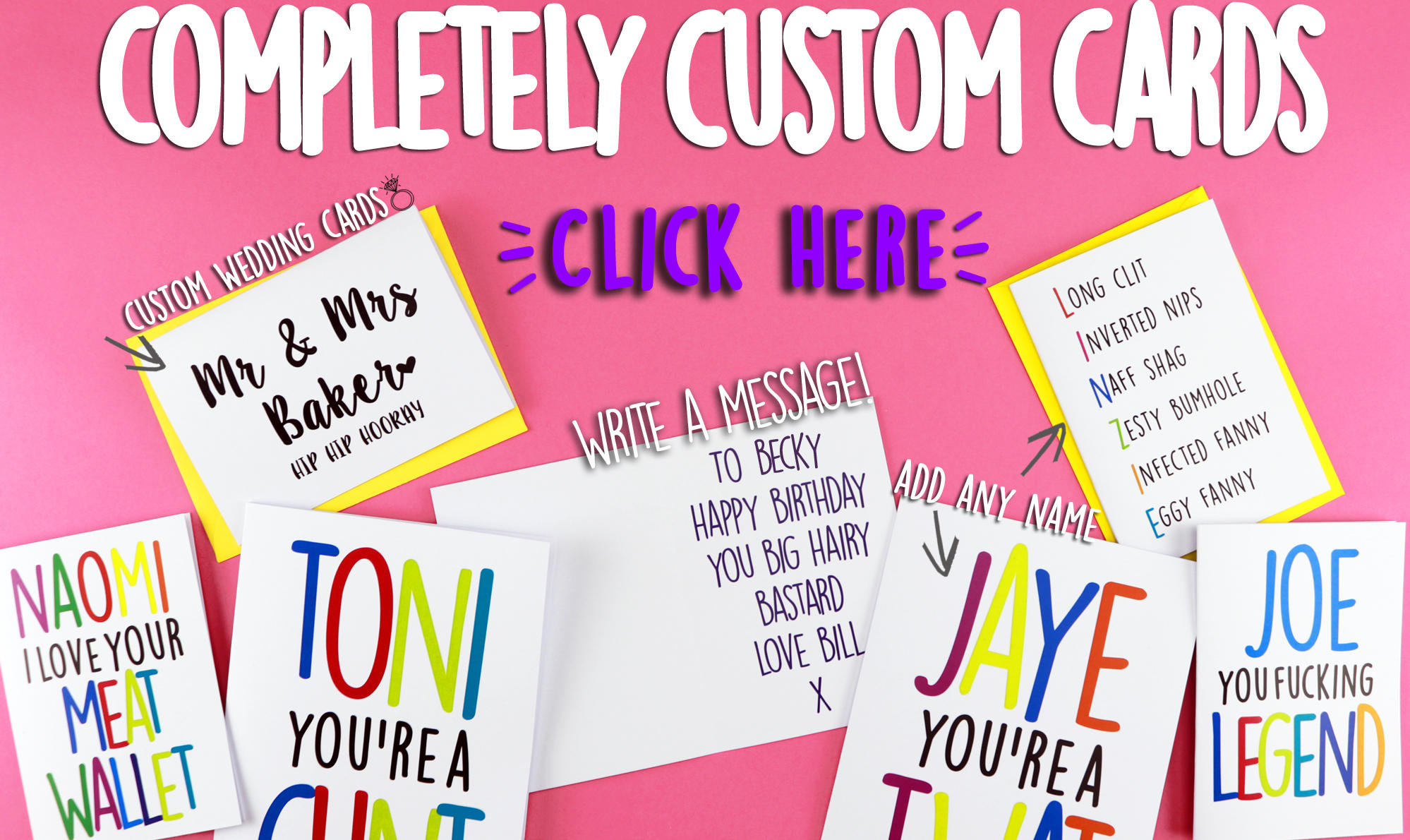 Banter cards rude cards funny birthday cards buy funny cards online m4hsunfo