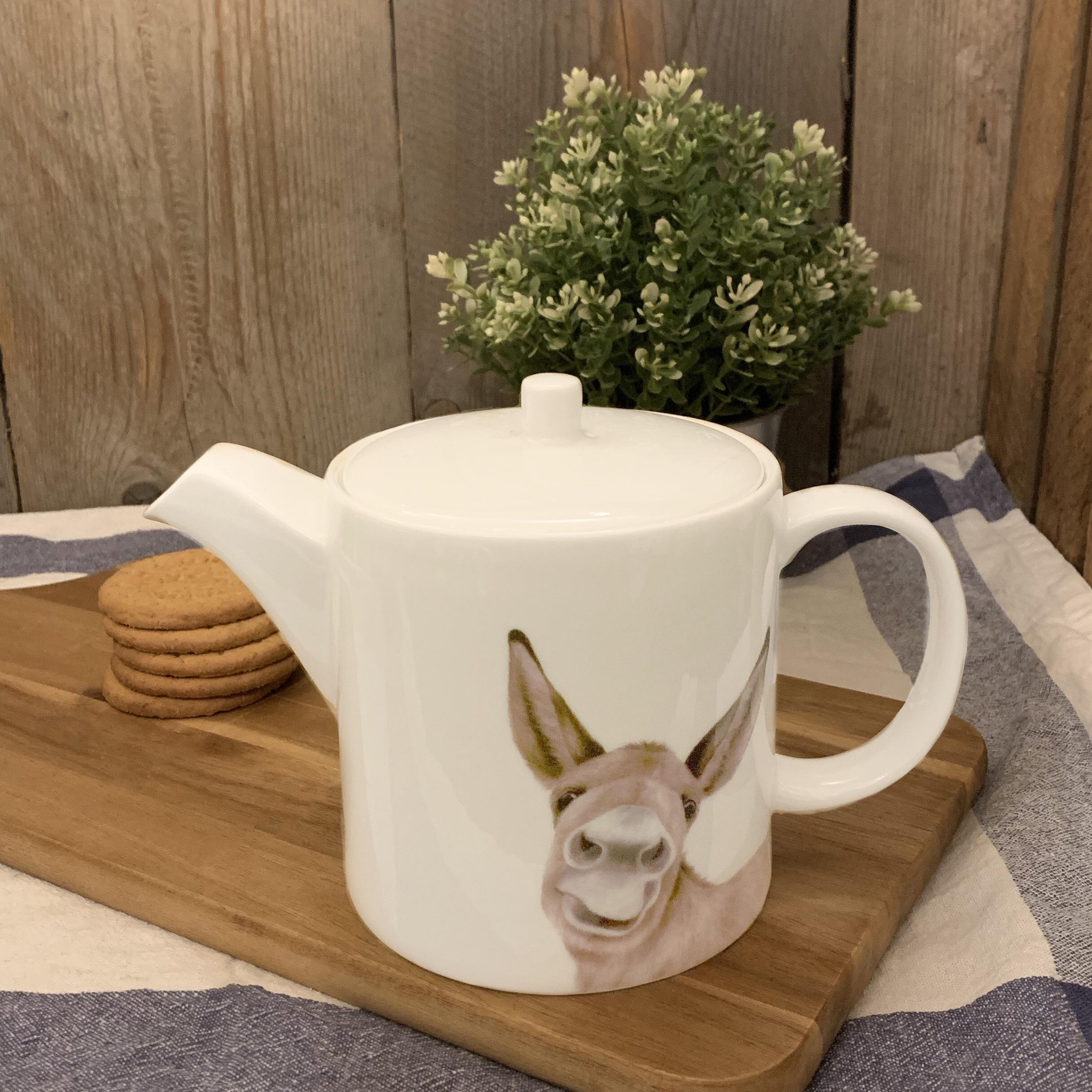 Teapot with Donkey by Lucy's Farm