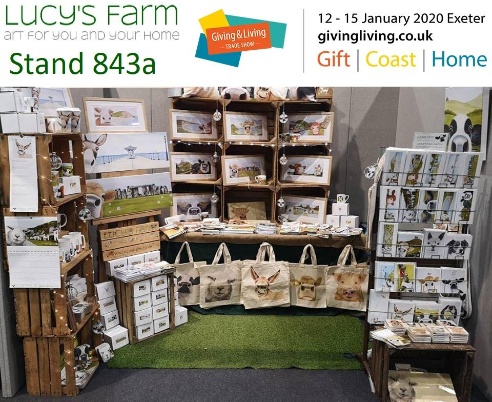 Giving and Living Trade Show 2020 - Lucy's Farm - Stand 843a